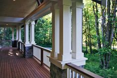 Craftsman House Plan Front Porch Photo for Home Plan also known as the Ackerman Place Craftsman Home from House Plans and More. House Plans And More, Luxury House Plans, Craftsman House Plans, Craftsman Style, Front Porch Columns, Siding Options, Arts And Crafts House, Home Porch, Large Homes