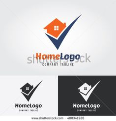 Home Logo Template with check mark. Logo for real estate agency. Real estate…