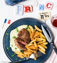 Steak frites mit Sauce béarnaise