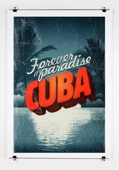 Cuba - Forever A Paradise Poster Art Print. via Etsy.