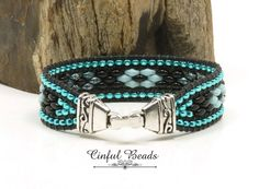 Beaded Leather Wraps, Leather Cuffs, Leather Jewelry, Black Leather, Leather Art, Leather Bracelets, Braided Leather, Seed Bead Bracelets Tutorials, Bracelet Patterns