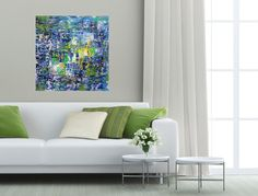 Art Abstract Acrylic Painting Modern Original by DianeMicklinArt