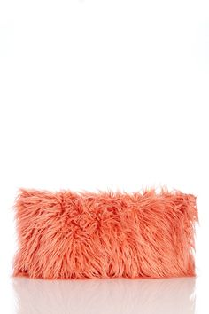 What an amazing pop of color and texture! This furry pillow would be so cozy for fall. | Sponsored by Nordstrom Rack.