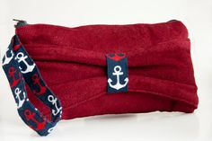 Items similar to Nautical Anchor Bow Clutch on Etsy Bow Clutch, Nautical Anchor, Daily Inspiration, Super Cute, Bows, Purses, Trending Outfits, Unique Jewelry, Handmade Gifts