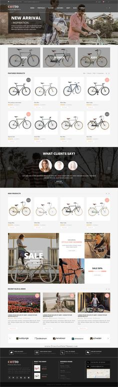 Cotto is clean and modern design 4in1 responsive #bootstrap template for #bike, cycle, bicycles #store eCommerce website download now➩ https://themeforest.net/item/cotto-bike-store-html5-template/19808663?ref=Datasata