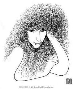 Barbra Streisand - illustration by Al Hirschfeld