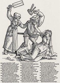 Artist: Beham, Hans Sebald, Title: Häuslicher Zwist, Date: ca. 1535