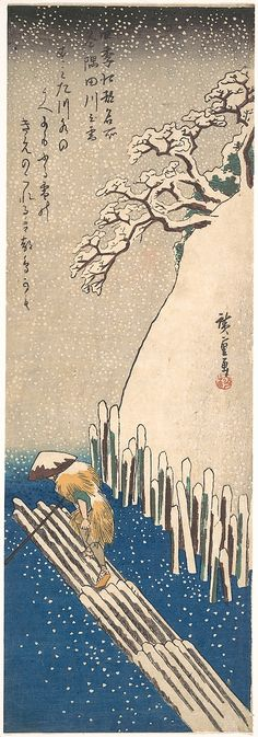 Snow on the Sumida River~~1835~~ Hiroshige