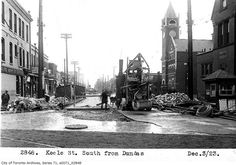 Keele south from Dundas, 1923 Toronto Ontario Canada, Toronto City, Amazing Photos, Cool Photos, History Pics, The Golden Years, Old Pictures, Vintage Photos, City Photo