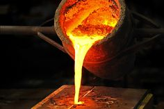 Cast iron and ductile iron are cast into shapes in a foundry by pouring liquid iron into molds Greek Gods And Goddesses, Greek Mythology, River Flow In You, Zeus And Hera, Cast Iron, It Cast, Storm King, Melting Metal, Toby Fox