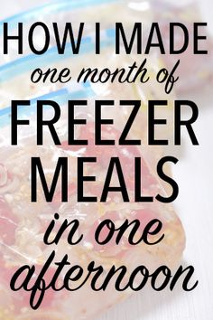 how to make a month of freezer meals in 4 hours