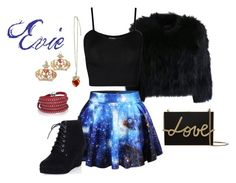 """""""Evie #4"""" by dessa-sweetheart ❤ liked on Polyvore featuring H Brand, Chicnova Fashion, WearAll, Lanvin, Sif Jakobs Jewellery, evie, Descendants and descendants2015"""
