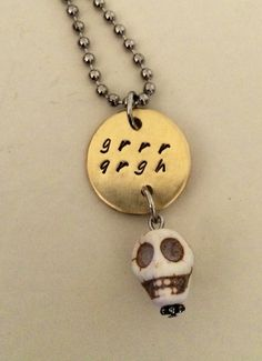 Any Buffy or Joss lovers out there? Grrr Argh Monster Skull Pendant on Etsy, $32.00