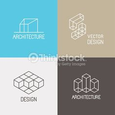 Logo design request  A minimalistic logo for an interior design     Vector set of logo design templates in simple trendy linear style for  architecture studios  interior