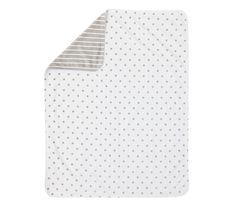 Dot & Stripe Chamois Stroller Blanket (personalized)