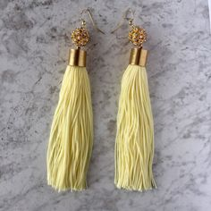 Lemonade Tassel Earrings