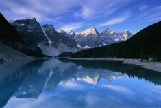 Lake Moraine - Banff National Park, Canada http://www.voteupimages.com/lake-moraine-banff-national-park-canada/
