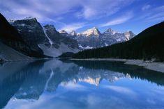Lake Moraine - Banff National Park, Canada http://www.voteupimages.com/lake-moraine-banff-national-park-canada/