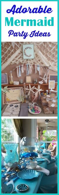 Mermaid Party Ideas- these are such fun ideas!