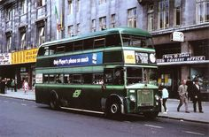 By Geoff Lumb taken in 1968 in O'Connell St Dublin working to Sallynoggin via Dun Laoghaire Bus Coach, Dublin City, Old Photos, Touring, Transportation, Ireland, Irish, Coaches, Buses