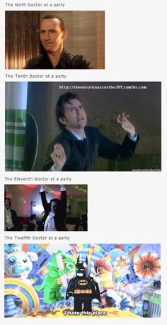 The Doctors Dance! (Except 12 who just hates everyone...)