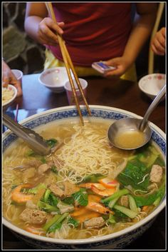 台灣ごはん huge bowl of combo noodle soup | Taiwanese Food!!!! no recipe BUT.... check related pins!
