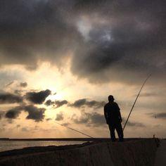 Empezando el día pescando