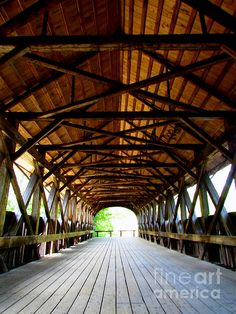 Days of Old, covered bridge in Bethel Maine. Photograph by Elizabeth Dow