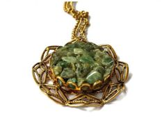 ON SALE Jade Chips Pendant Necklace