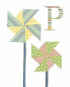 Alphabet Nursery Art Print Alphabet Art Letter P P is by justbunch, $17.00