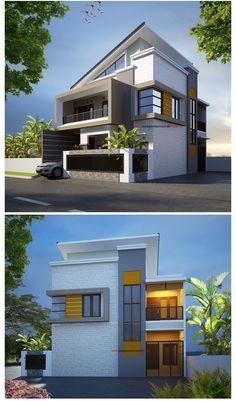 Layanan @ Jasa Gambar Rumah - Rumah Minimalis 2 Lantai posisi Hook di Ciledug Tangerang