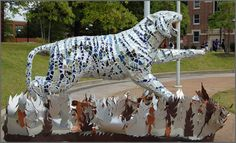"Tigers Around Town, University of Memphis - 2007 ""Fire and Ice"" by Lauren Spiotta"