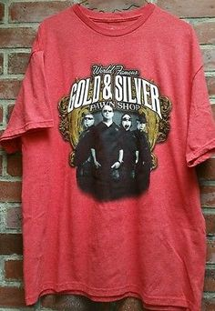 World Famous Gold & Silver Pawn Shop Red T-Shirt History's Pawn Stars XL