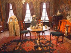 De mooie kamer in de Prinsessehof van Marijke Meu in het Keramiek Museum in Leeuwarden. Nederland
