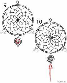 How to Draw a Dreamcatcher Step 5