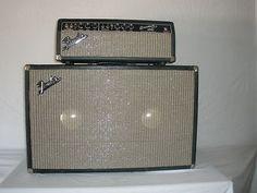 Vintage 1967 Fender Bassman Blackface Head & Cab Super Clean Tone Machine Fender Bass Amp, Fender Guitar Amps, Guitar Rig, Guitar Shop, Cigar Box Guitar, Music Guitar, Cool Guitar, Fender Bender, Fender Deluxe