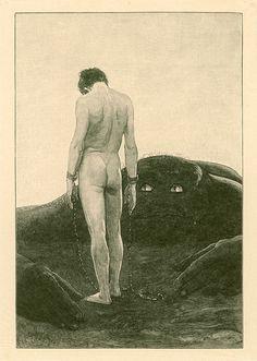 Il senso di dipendenza (Das Gefühl der Abhängigkeit), di Sascha Schneider.