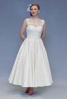 lovely tea length wedding dress