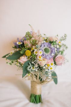 wild garden bridal bouquet
