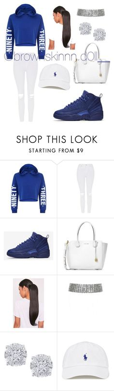 """""""Untitled #67"""" by xo-destineeee ❤ liked on Polyvore featuring New Look, Topshop, NIKE, Michael Kors and Effy Jewelry"""