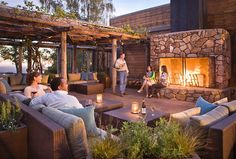 Could be such a chill place for a reception (plus marshmellows for the fireplace)...