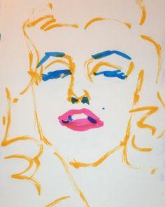 いいね!4件、コメント1件 ― @1mindrawのInstagramアカウント: 「#1mindraw #marilynmonroe #マリリンモンロー #19260601 #birthday #誕生日 #portrait #筆ペン画」