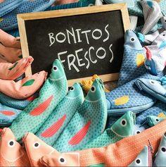 Don Fisher Don Fisher, Fabric Fish, Ocean Crafts, Plushies, Shopping Bag, Dinosaur Stuffed Animal, Baby Shoes, Fishing, Artsy