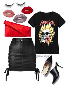 """Untitled #179"" by missreddy on Polyvore featuring Versus, Diane Von Furstenberg, Lime Crime and Huda Beauty"