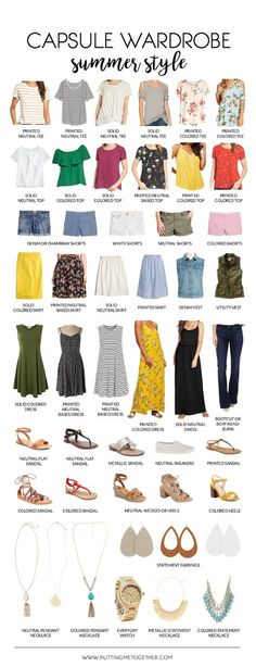 Summer Capsule Wardrobe Cute Summer Outfit Ideas 2019 www.puttingmetoge The post Summer Capsule Wardrobe Cute Summer Outfit Ideas 2019 appeared first on Outfit Diy. Capsule Wardrobe 2018, Wardrobe Sets, Wardrobe Basics, Summer Wardrobe, Professional Wardrobe, Work Wardrobe, Maternity Capsule Wardrobe, Capsule Outfits, Summer Minimalist
