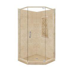 American Bath Factory�Panel 86-in H x 32-in W x 36-in L Medium Neo-Angle Corner Shower Kit