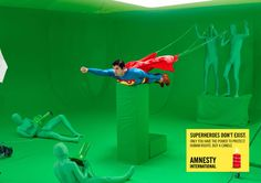 AMNESTY INTERNATIONAL - Superheroes don't exist.
