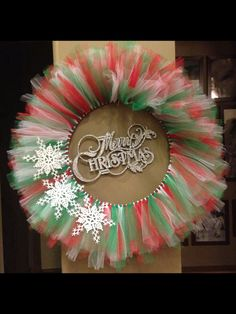 Christmas Tulle Wreath by erikavelickovski on Etsy, $48.00