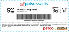 PETCO: $5 off Beneful Dog Food Printable Coupon