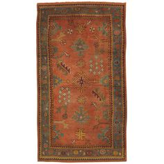 Antique Oushak Rug 3.9x6.9 | From a unique collection of antique and modern turkish rugs at http://www.1stdibs.com/furniture/rugs-carpets/turkish-rugs/